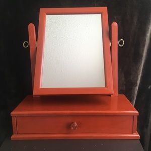 Vintage Make-Up Mirror with Drawer
